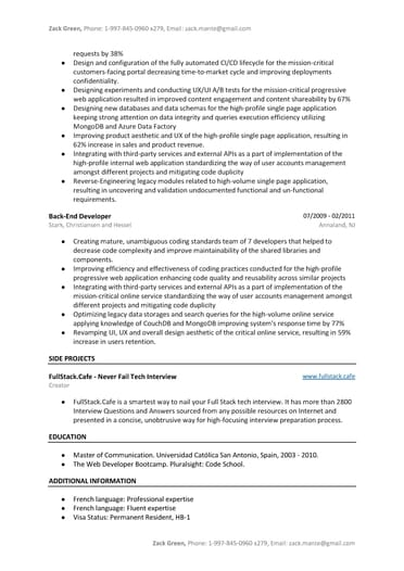 java developer resume sample  word  pdf template   9 free tips